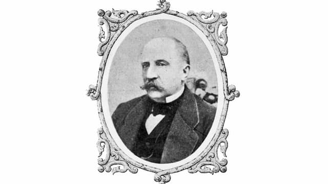 old portrait of a men with a mustache