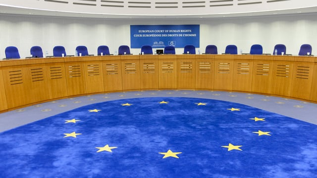 Gerichtsraum des Europäischen Gerichtshofes für Menschenrechte