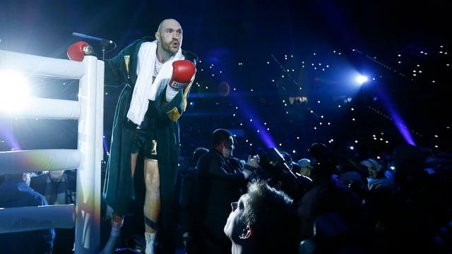 Boxer Tyson Fury gibt sich vor dem Kampf siegessicher.