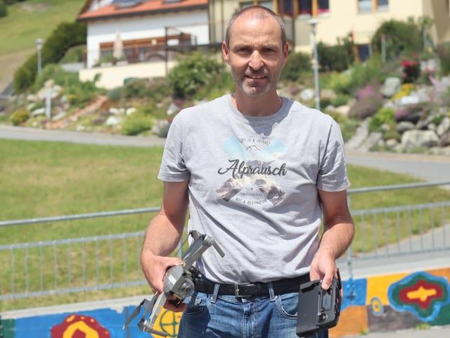 Andrea Carpanetti e la drona
