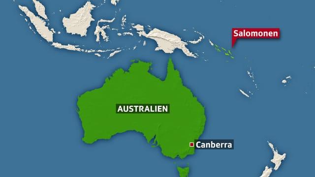 Karte Salomonen