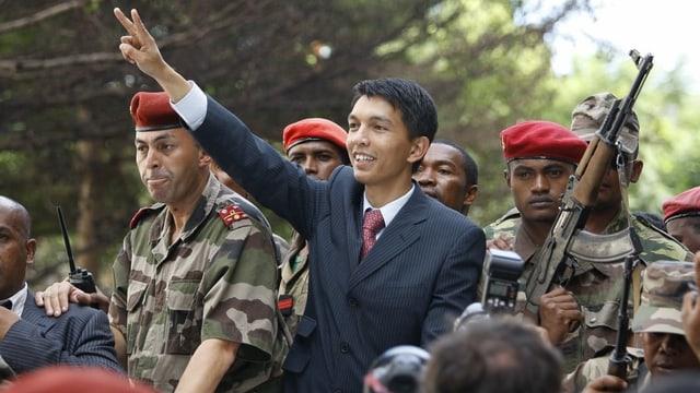 Andry Rajoelina ist Präsident von Madagaskar.