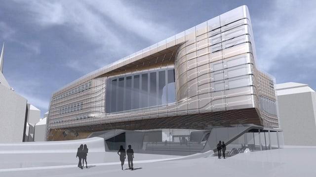 Der Neubau: Visualisierung des Projekts der Stararchitektin Zaha Hadid.