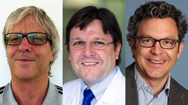 Dr. Arnold Eggerschwiler, Dr. Bruno Hüttenmoser und Dr. Thomas Müller