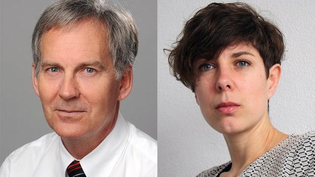 Prof. Peter Ballmer und Daniela Menassé.