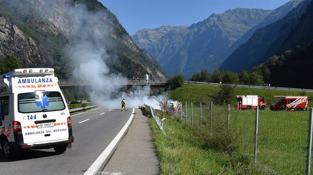 Il lieu d'accident a Lostallo.