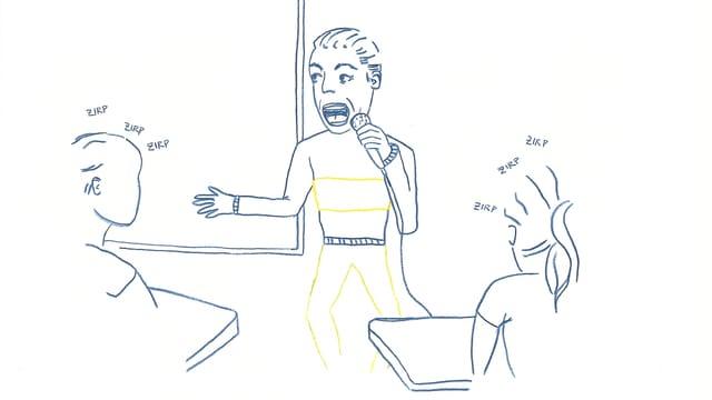 Dozenten, die vor ihren Studenten als schlechter Comedian auftretetn, sind peinlich.