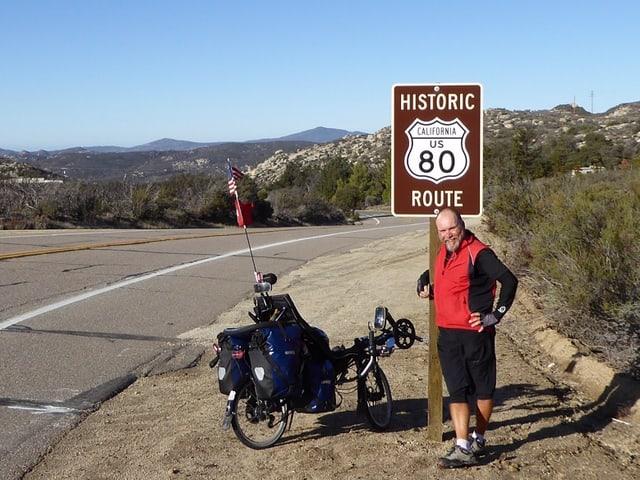 Fredy fuhr in 67 Tagen 5350.5 Kilometer auf dem Liegerad