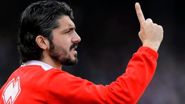 Der FC Sion und Spielertrainer Gennaro Gattuso testen gegen die AC Milan.