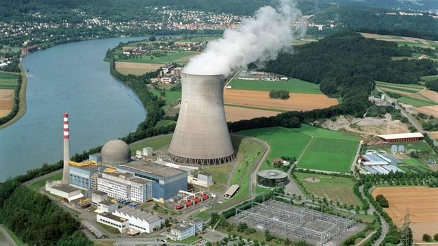 Luftaufnahme des KKW Leibstadt.