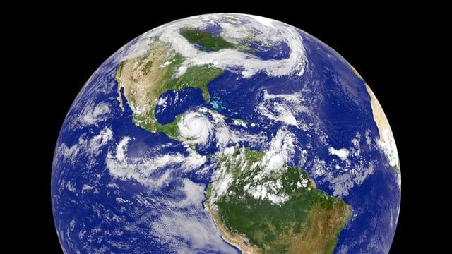Die Erde vom All aus gesehen