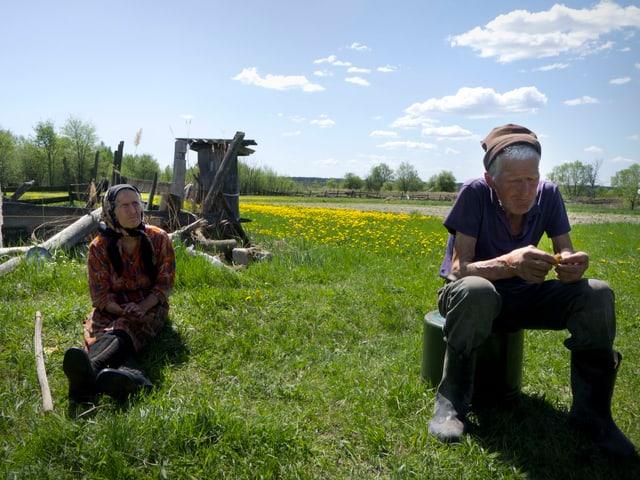 Pétro und Nadia, beide mittlerweile weit über 80, weigerten sich, ihren Hof in Zvizdal, das in der Sperrzone von Tschernobyl liegt, zu verlassen.