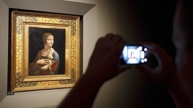 Da Vincis zweitberühmtestes Frauengemälde: «die Dame mit dem Hermelin».