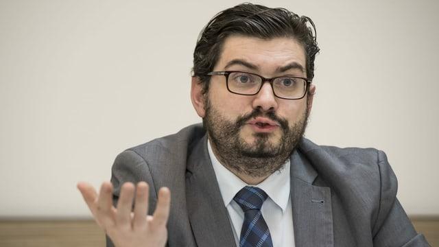 Der Präsident der Waadtländer SVP, Kevin Grangier.