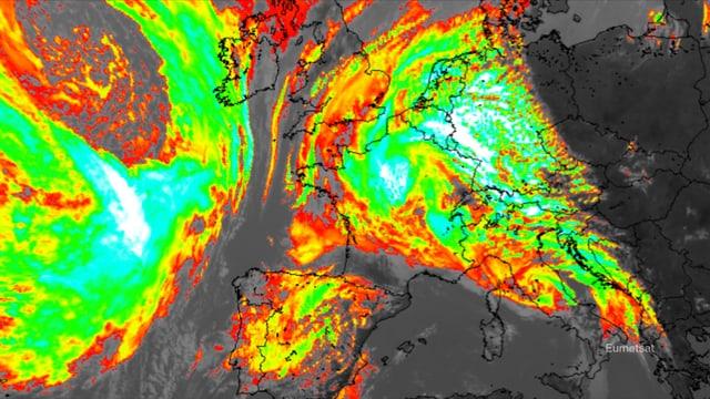 Infrarot-Satellitenbild.