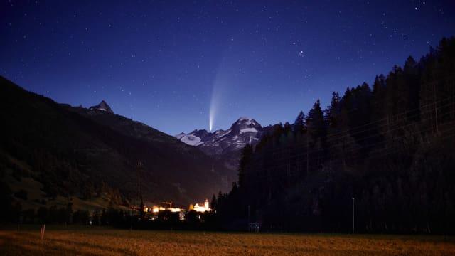 Am Wochenende war der Komet auch im Goms zu sehen.