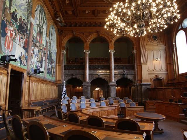 Seit vier Jahren erstrahlt der Ständeratssaal in neuem Glanz. Drei Jahre hat der Umbau gedauert und über 100 Millionen Franken gekostet.