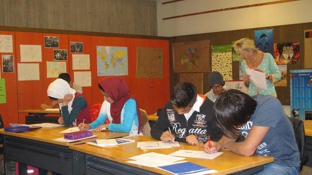 Im Luzerner Schulhaus Schädrüti werden junge Flüchtlinge unterrichtet.