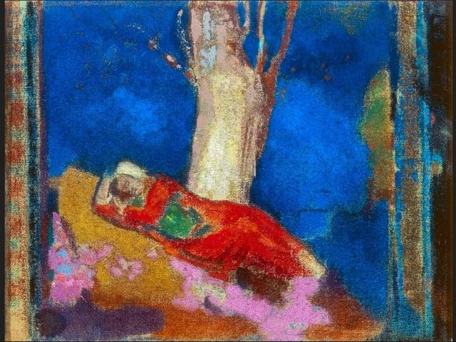 Frau unter dem Baum schlafend (1901)