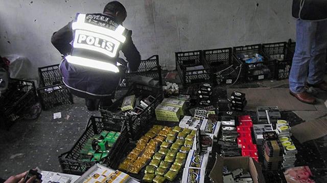 Beschlagnahmte Lebensmittel