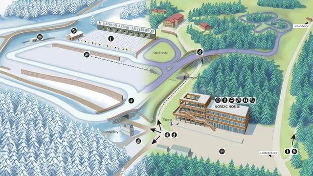 Infrastructura Arena da biatlon a Lai.