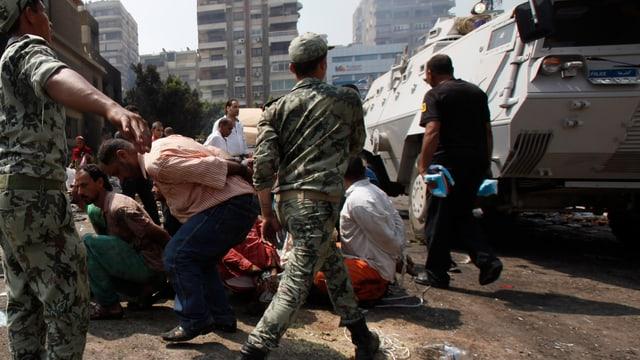 Fetsnahme von Islamisten im August 2013.