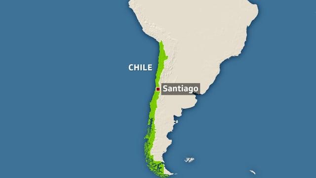 Karte Chiles