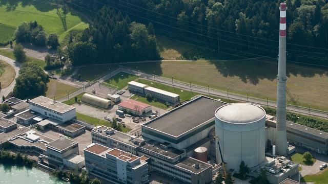 Kernkraftwerk Mühleberg aus der Vogelperspektive.