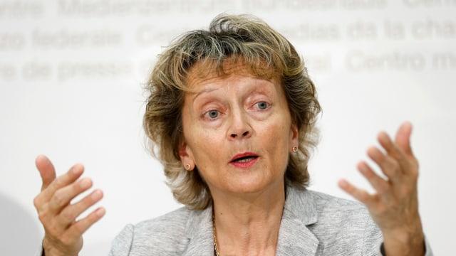 Cussegliera federala Eveline Widmer-Schlumpf.