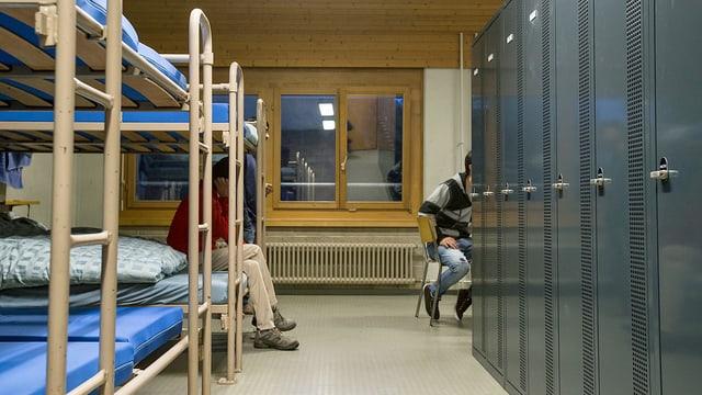 Flüchtlinge in einer Unterkunft