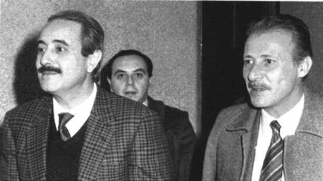 Die zwei Mafiajäger Giovanni Falcone und Paolo Borsellino.