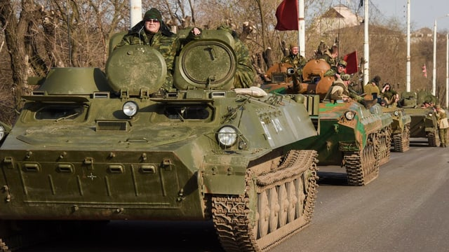In convoi dals separatists pro-russ.