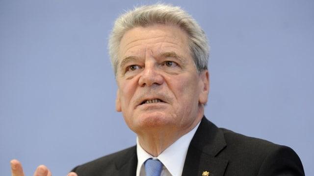 Il president tudestg Joachim Gauck.