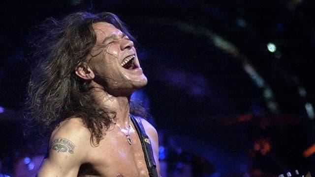 Porträt von einem Auftritt von Eddie Van Halen