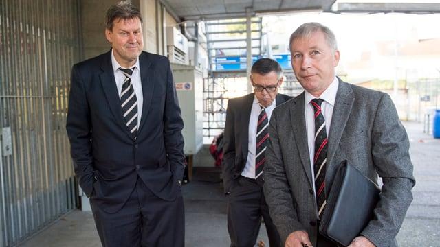 Roger Geissberger, Urs Bachmann und Alfred Schmid