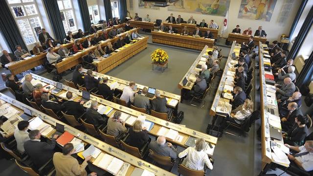 Der Landratssaal in Liestal.