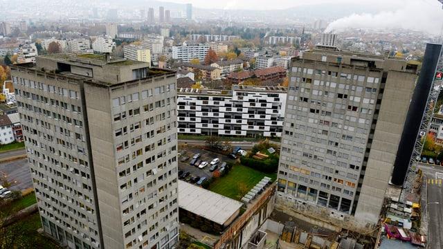Blick auf die alten Personalgebäude des Triemli-Spitals.