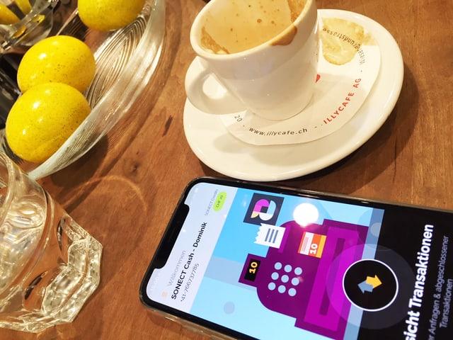 Handy und Cafe