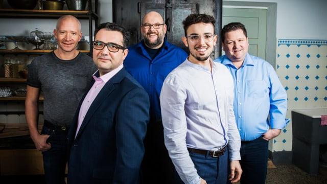 Diese fünf Männer kämpfen um den Sieg bei «SRF bi de Lüt – Männerküche».