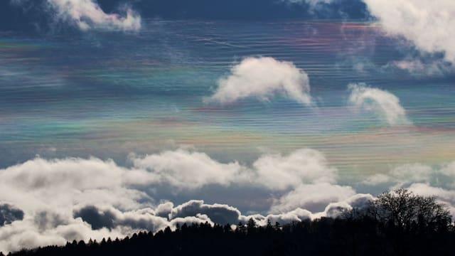 Perlmutfarbener Himmel.