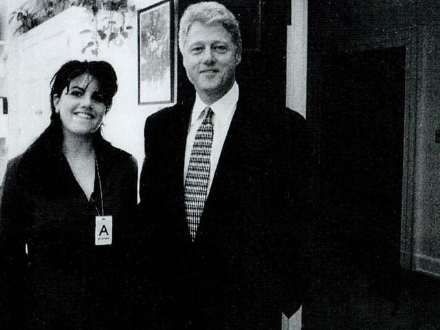 Bill Clinton und Monica Lewinsky, 1995