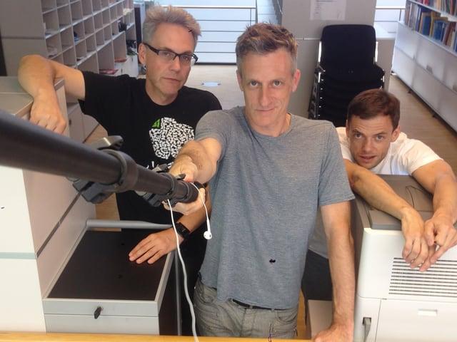 Lucius Müller, Peter Buchmann und Jürg Tschirren