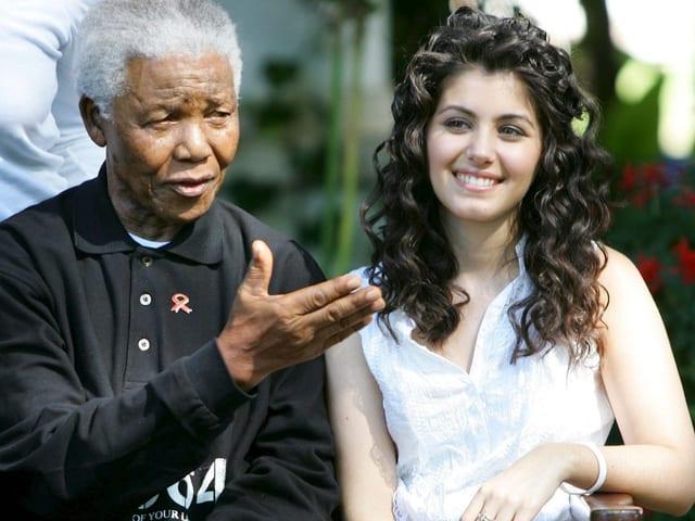 Melua und Nelson Mandela