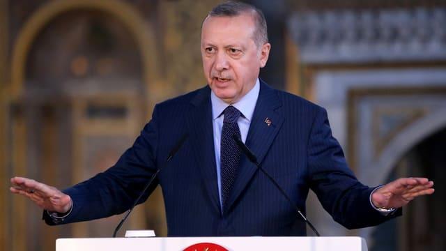 Erdogan bei einer Rede