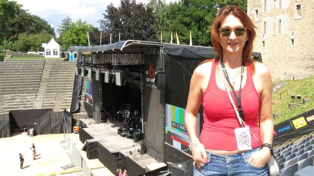 Charlotte Carrel in der Arena.