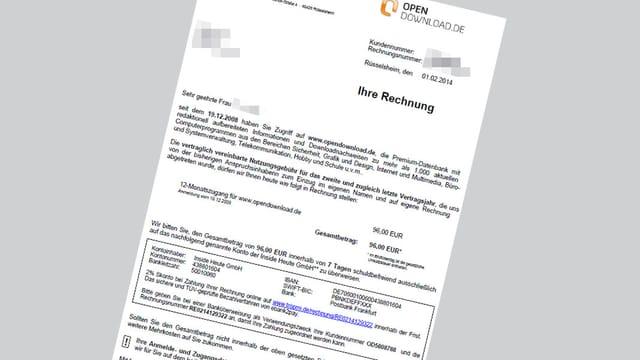 Brief von Opendownload.de