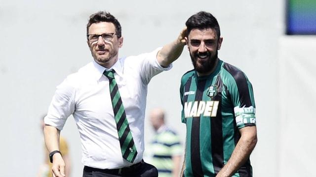 Eusebio Di Francesco und Francesco Magnanelli.