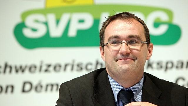 Martin Baltisser, il secretari general da la partida populara svizra.