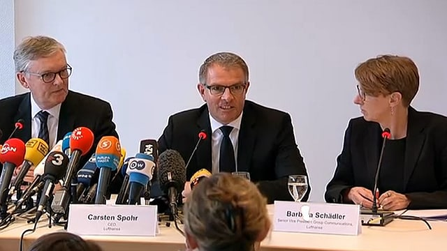 Conferenza da medias da la Lufthansa e Germanwings.