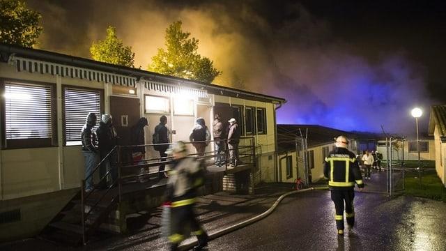 Im Oktober brannte es auch schon in der Freiburger Unterkunft.